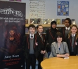 Me with pupils at Lawnswood School for World Book Day